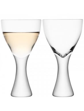 LSA Elina Wine Glasses - 300ml (Set of 2) Gift Box