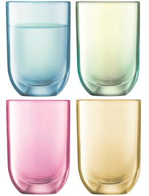 LSA Polka Vodka Glasses - Pastel 60ml (Set of 4)