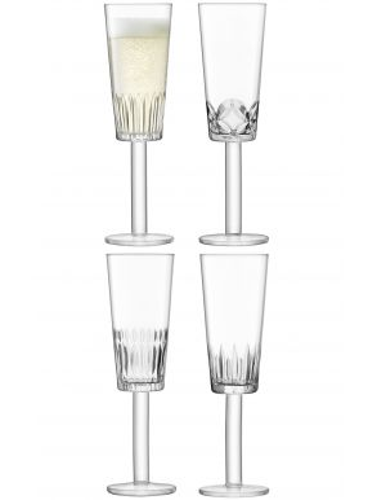 LSA Tatra Champagne Flutes - 250ml (Set of 4)