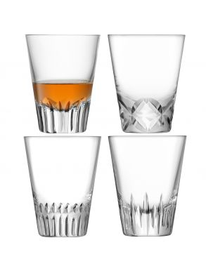 LSA Tatra Tumbler Glasses - 225ml (Set of 4)