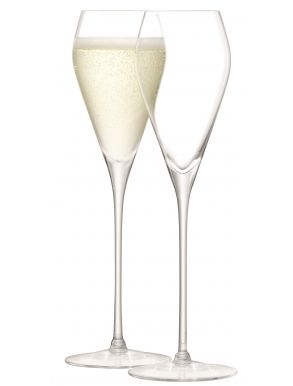 LSA Wine Collection Prosecco Glasses - Clear 250ml (Set of 2)