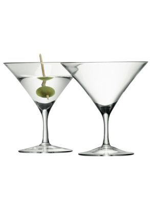 LSA Bar Collection Martini glasses - 180ml (Set of 4) Gift Box