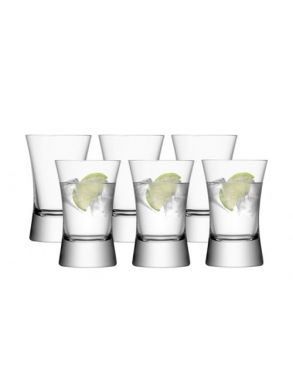 LSA Moya Tumbler Glasses - Clear 330ml (Set of 6)