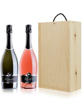 Romeo & Juliet Prosecco Wine Gift Set Duo 75cl