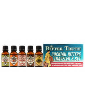 The Bitter Truth Cocktail Bitters Traveler's Set 5x20ml