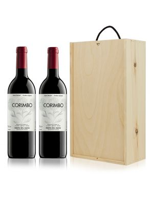 The Corimbo Wine Gift - Spain 2 Bottles & Wood Gift Box