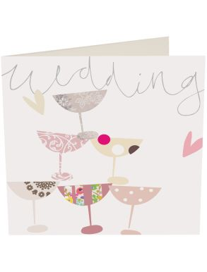Wedding Glasses Stack Gift Card
