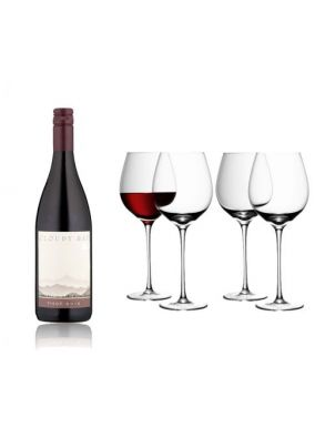 Cloudy Bay Pinot Noir Red Wine & LSA Red Wine Glasses Wine Gift