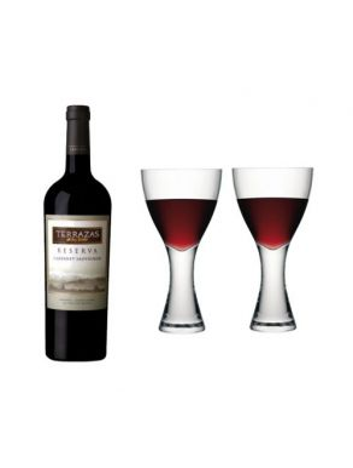 Terrazas Reserva Cabernet Sauvignon & LSA Elina Wine Glass Gift