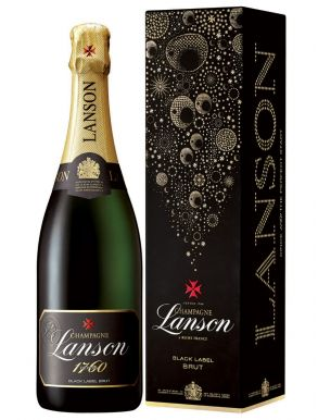 Lanson Black label Champagne Brut NV 75cl Gift Box