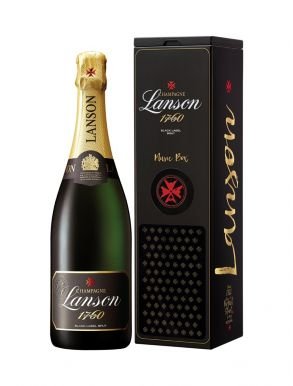 Lanson Perfect Start Black Label Brut Champagne 75cl Music Box