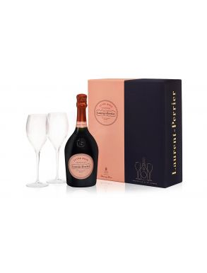 Laurent Perrier Rose Cuvee Flute Set