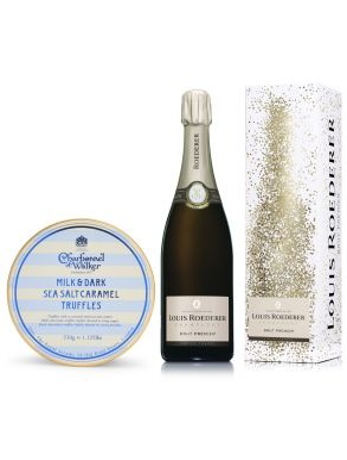 Louis Roederer Brut Premier Champagne 75cl & Sea Salt Truffles 510g