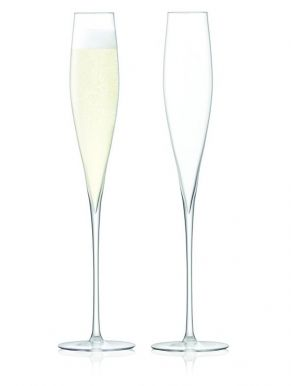 LSA Celebrate Champagne Flutes - Clear 220ml (Set of 2)