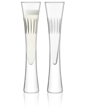 LSA Moya Champagne Flutes - Clear 170ml (Set of 2) Gift Box