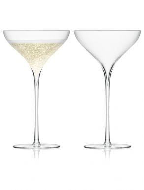 LSA Savoy Champagne Saucers - Clear 250ml (set of 2)