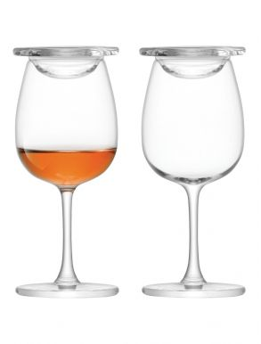 LSA Whisky Islay Nosing Glass & Glass Cover - 110ml (Set of 2)