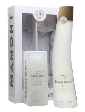 Mamont Siberian Vodka 70cl & Polar Shot Ice Tray Gift Pack