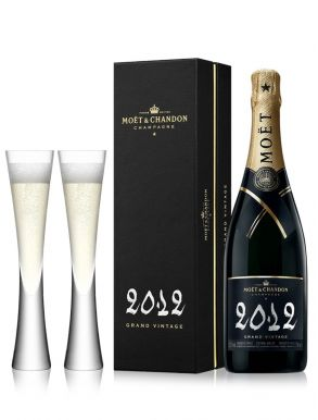 Moet & Chandon Grand Vintage 2012 Champagne 75cl & 2 Moya Flutes
