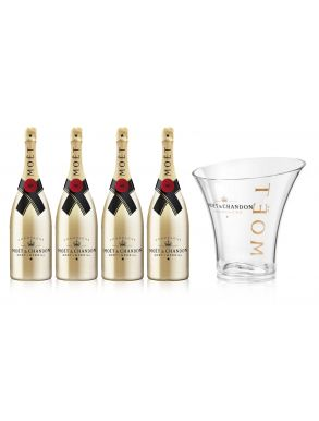 Moet & Chandon Brut Imperial Champagne Gold Case 4x75cl