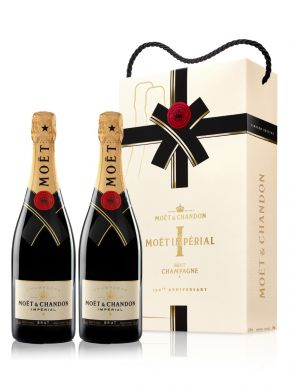 Moet & Chandon Brut Imperial Champagne Twin Pack 2x75cl