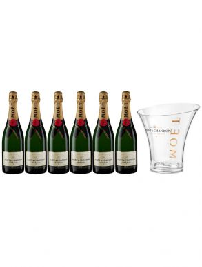 Moet & Chandon Brut Champagne Party Case Deal 6x75cl & Moet Ice Bucket