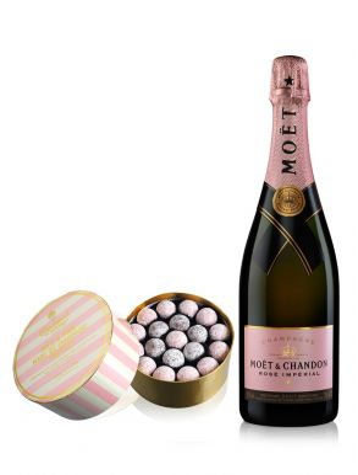 Moet & Chandon Rose Champagne NV 75cl & Pink Truffles 275g