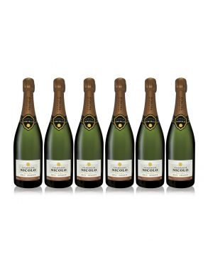 Nicolo Brut Reserve Champagne Case Deal 6 x 75cl