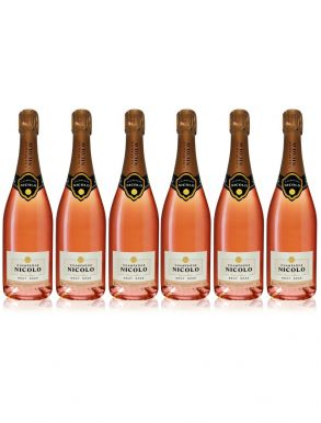 Nicolo Brut Rose Champagne 75cl Case Deal 6 x 75cl