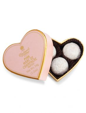 Charbonnel & Walker Mini Pink Champagne Truffle Heart 34g