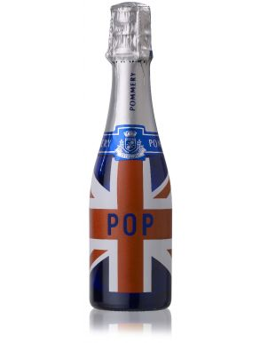 Pommery Pop UK Flag Champagne Mini Bottle 20cl