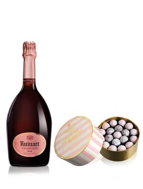 Ruinart Rose Champagne NV 75cl & Pink Truffles 650g