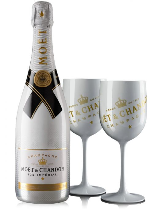 Moet & Chandon Ice Champagne & 2 Flutes