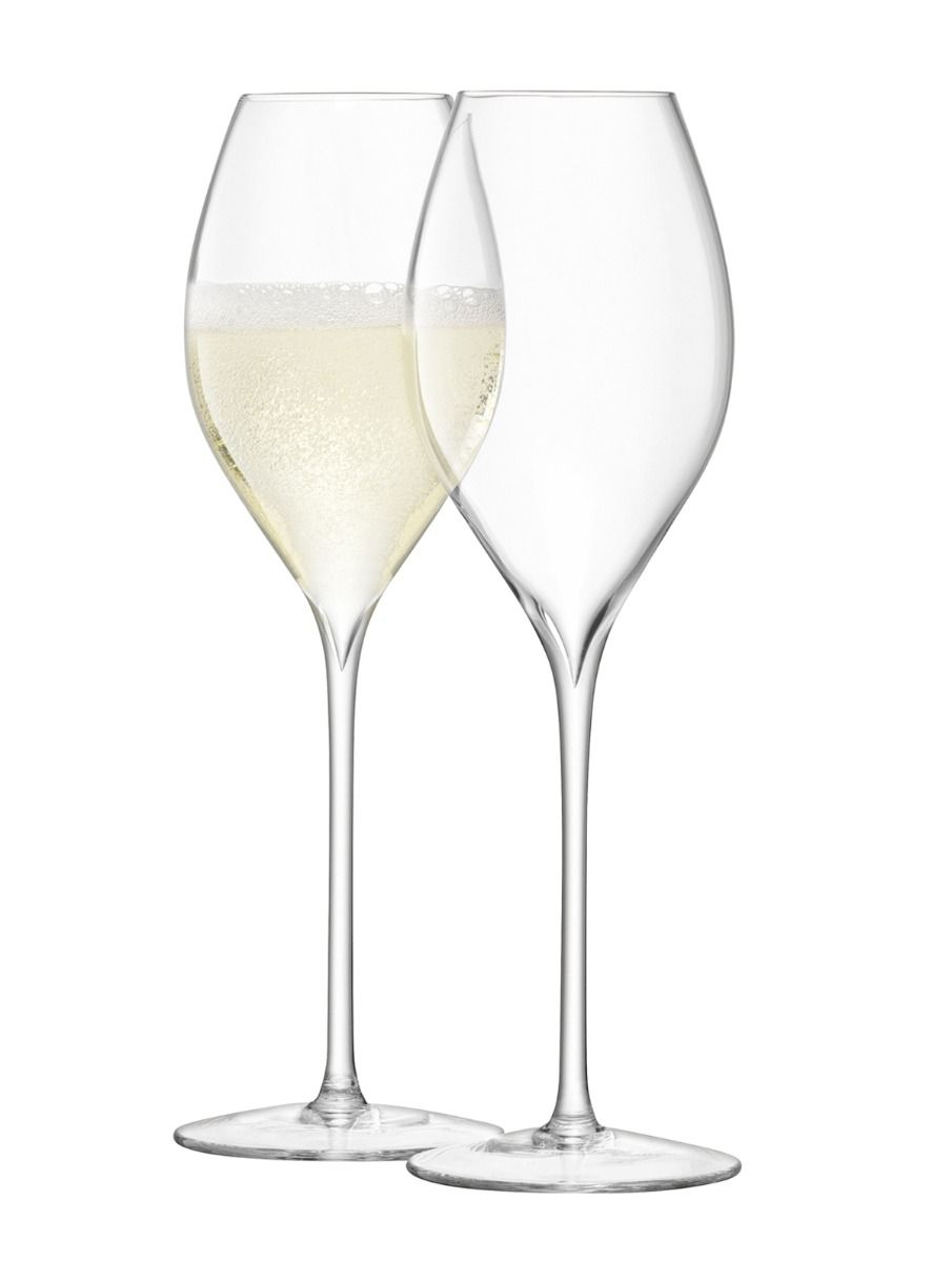 LSA Wine Collection Champagne Glasses 370ml - Set of 2