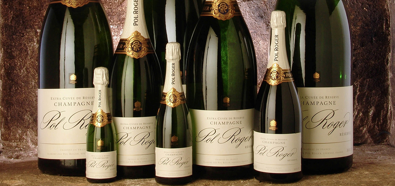 Large Bottles of Champagne Size Guide - Pol Roger